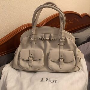 Dior - White Shoulder Bag (the perfect summer bag)